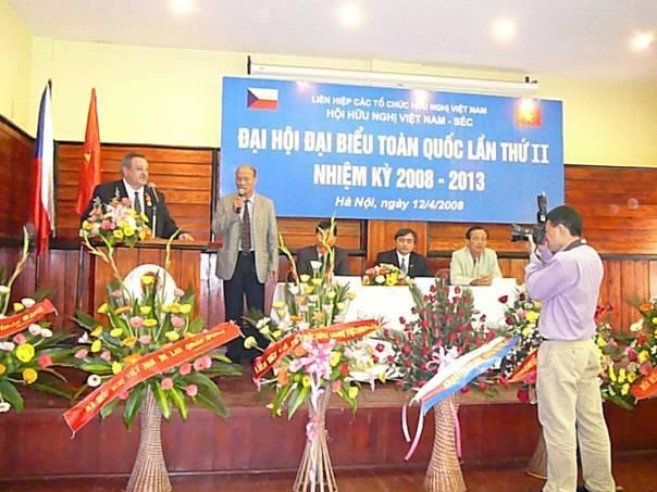 Thư chúc mừng của Hội Hữu nghị Séc - Việt Nam nhân dịp Đại hội Lần thứ IV Hội Hữu nghị Việt Nam – Séc